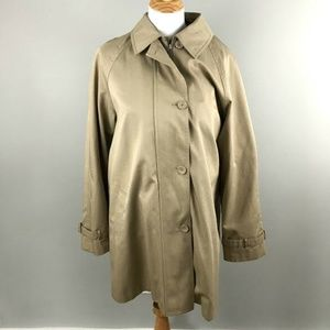 Pendleton Trench Coat L Womens Single Breasted